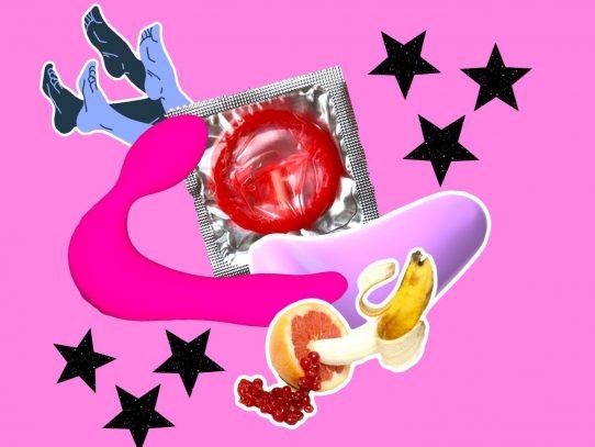 Lubricantes, condones y juguetes limpios